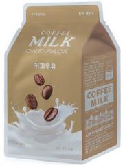 A'PIEU Укрепляющая маска с экстрактом кофе и коллагеном Coffee Milk One-Pack