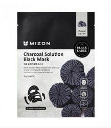Черная маска с углем для очищения пор Mizon Сharcoal Solution Black