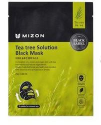 Черная тканевая маска с чайным деревом Mizon Teatree Solution Black