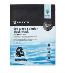 Черная тканевая маска с морскими водорослями Mizon Seaweed Solution Black