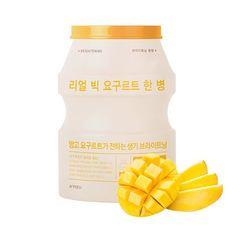 Осветляющая тканевая маска для лица A'PIEU Real Big Yogurt One-Bottle (Mango)