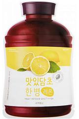 A'Pieu Осветляющая тканевая маска с экстрактом лимона Fruit Vinegar Sheet Mask Lemon