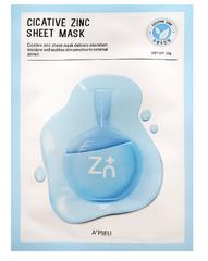 A'Pieu Успокаивающая тканевая маска с цинком Cicative Zinc Sheet Mask