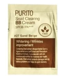 ББ-крем с муцином улитки PURITO Snail Clearing BB Cream SPF38 PA+++ пробник