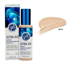 Тональный крем Enough Ultra X 10 Cover Up Collagen Foundation 13 тон (светлый беж)
