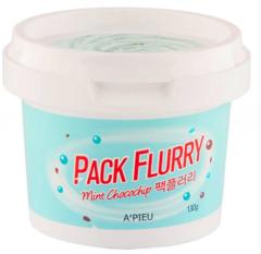 Охлаждающая маска-скраб для лица A'Pieu Pack Flurry Mint Chocochip