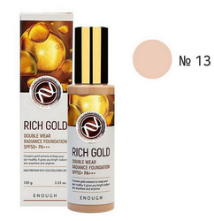 Тональный крем Enough Rich Gold Double Wear Radiance Foundation 13 тон (светлый беж)
