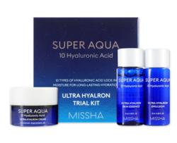 Набор миниатюр увлажняющих средств для лица MISSHA Super Aqua Ultra Hyalron Miniature Set