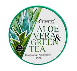Патчи для век Esthetic House Aloe Vera & Green Tea Hydrogel Eye Patch