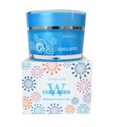 Крем для лица с коллагеном отбеливающий W Collagen Whitening Premium Cream Enough